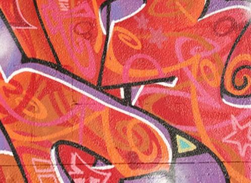Graffiti printed blind