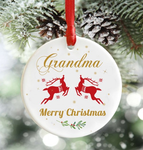 Grandma Merry Christmas decoration