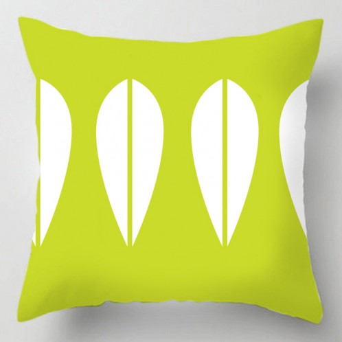 Green deco 50's cushion