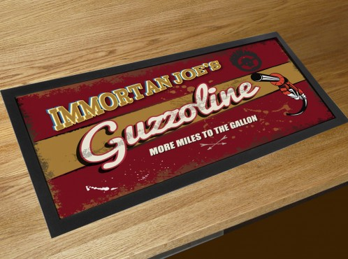 Immortan Joe's Guzzoline bar runner counter mat Mad Max Fury Road inspired