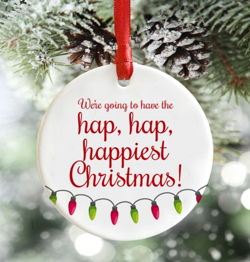 Hap, Happiest Christmas decoration