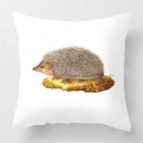 Vintage Hedgehog cushion