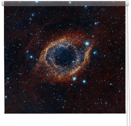 Helix Nebula galaxy printed blind