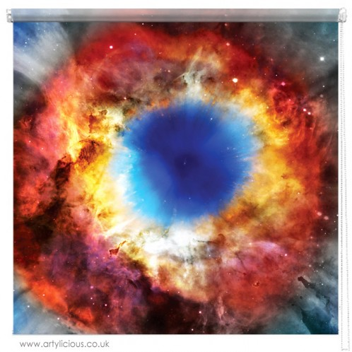 Helix Nebula galaxy printed blind