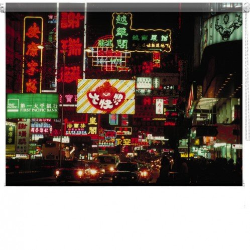 Hong Kong Lights printed blind