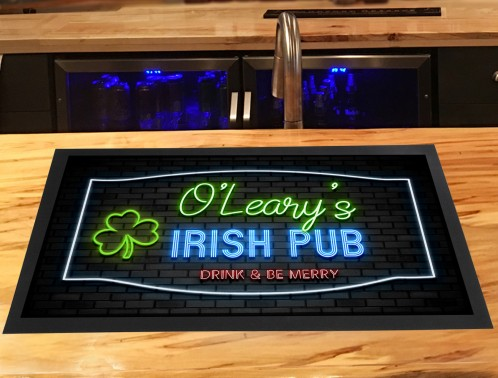 Personalised Irish Pub bar runner mat