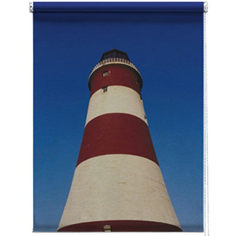 Lighthouse photo printed blind