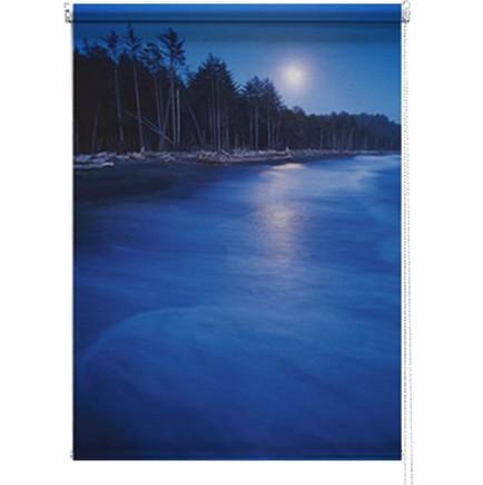 Blue Sunset printed blind
