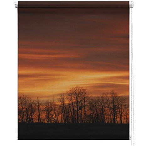Sunset printed picture blind
