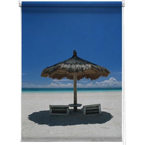 Beach parasol printed blind