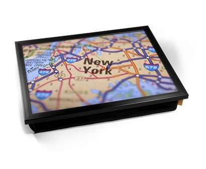 New York Map laptray