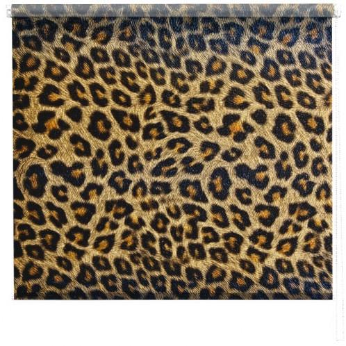 Leopard print roller blind