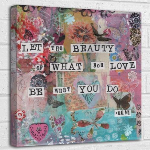 let the beauty canvas art