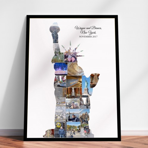 New York Photo Memory Collage Print