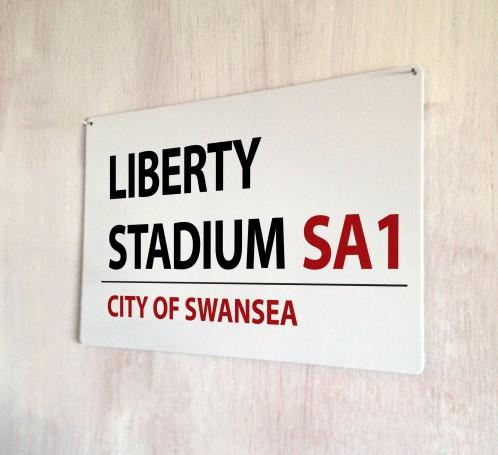Liberty Stadium Swansea Street Sign