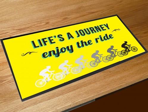 Lifes a journey enjoy the ride bar runner