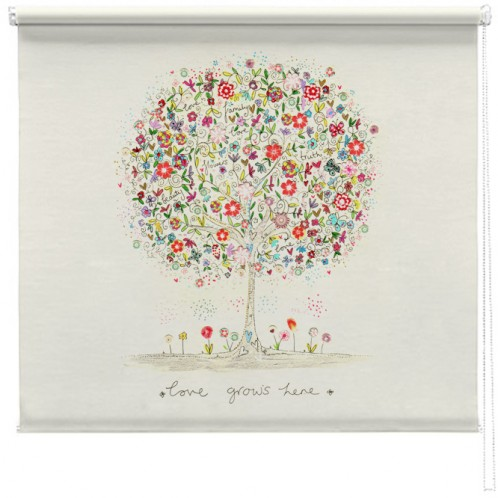 Love grows here printed blind