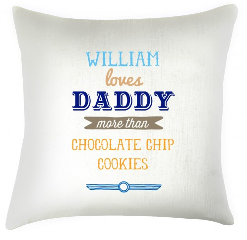 loves daddy fathers day cushion