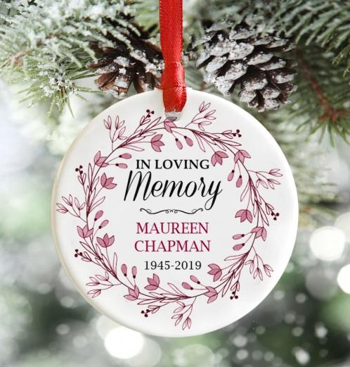Personalised Memorial Christmas Decoration