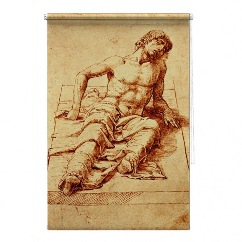 Man Laying on a Stone Slab - Andrea Mantegna