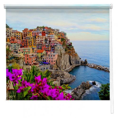 Manarola view, Italy printed blind