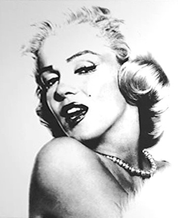 Marilyn Monroe printed blind