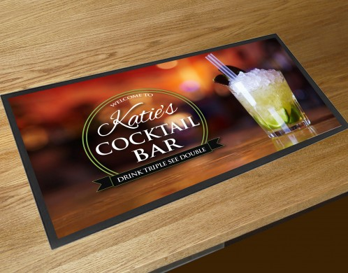 Personalised Welcome Mojito Cocktail bar runner