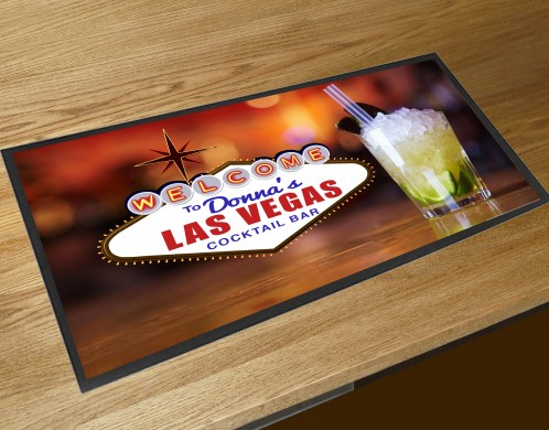 Personalised Las Vegas Mojito Cocktail bar runner