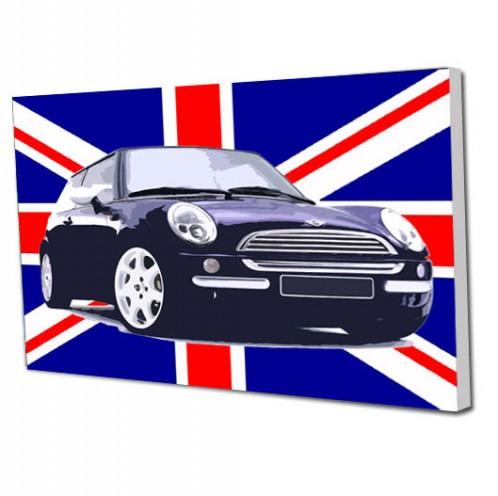 Union Jack Mini car canvas art