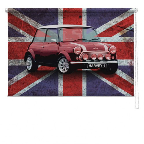 Mini Car union jack childrens blind