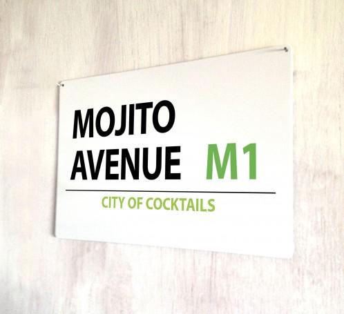 Mojito Avenue metal street Sign