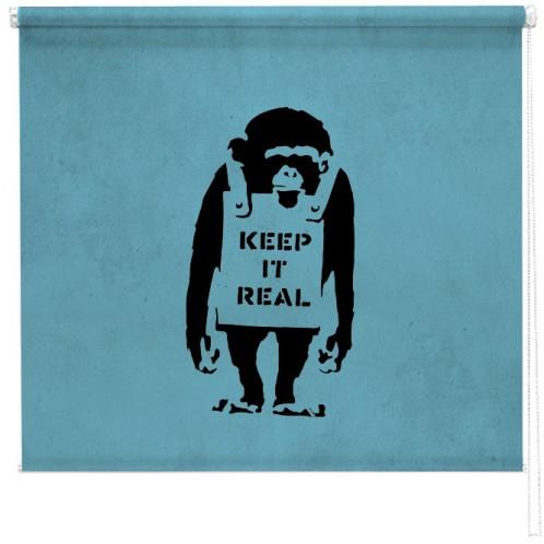 Banksy chimp blind