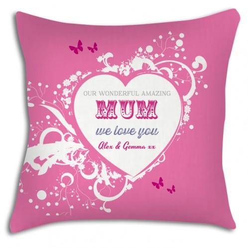 Wonderful Mum personalised cushion, great Mothers day gift