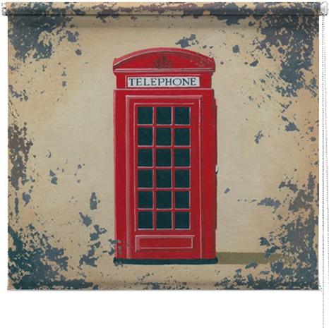 Red Telephone box printed blind martin wiscombe