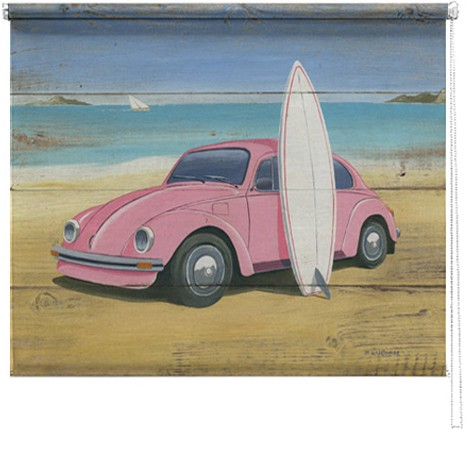 Beetle & Surf printed blind mrtin wiscombe