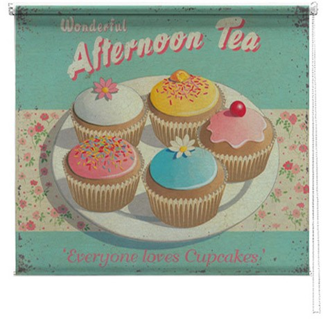 Afternoon Tea printed blind martin wiscombe