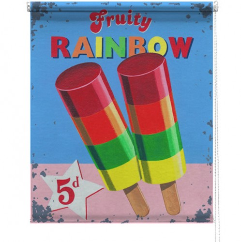 Rainbow lolly printed blind martin wiscombe