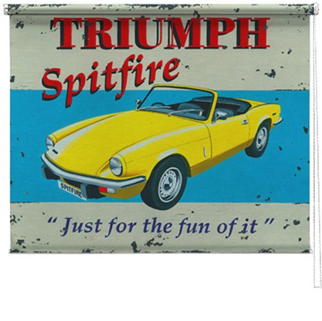 Triumph Spitfire printed blind martin wiscombe