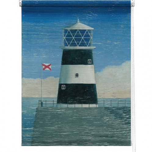 Lighthouse printed blind martin wiscombe