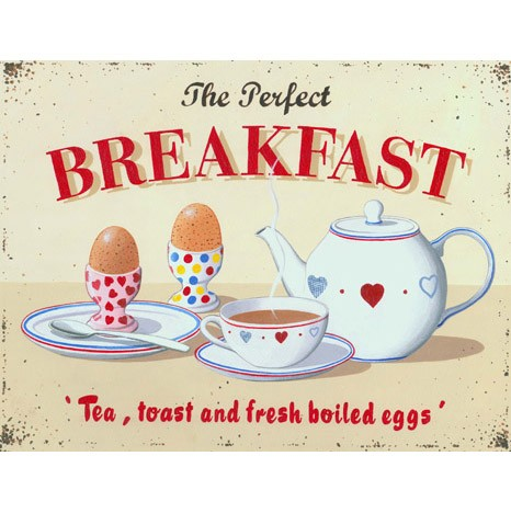 Perfect Breakfast printed blind martin wiscombe
