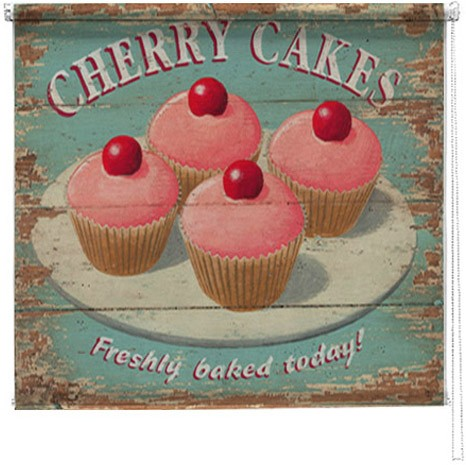 Cherry cakes printed blind martin wiscombe