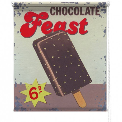 Chocolate Feast printed blind martin wiscombe