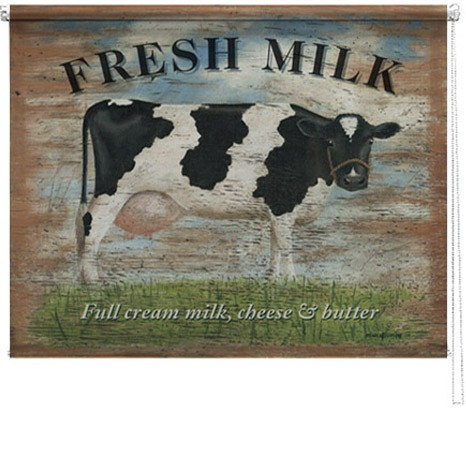 Fresh Milk printed blind martin wiscombe