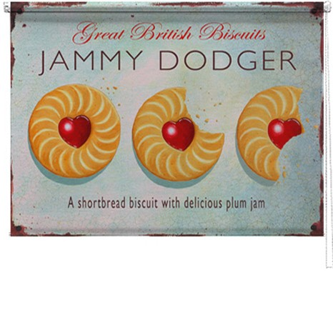 Jammy Dodger printed blind martin wiscombe