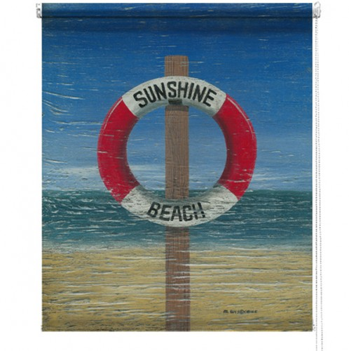 Beach life ring printed blind martin wiscombe