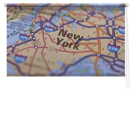 New York map printed blind
