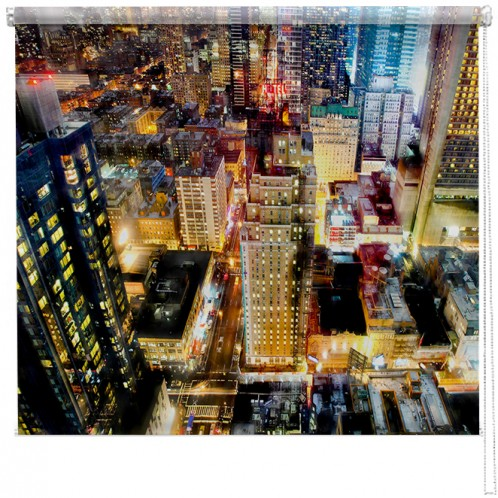 Colourful New York view printed blind