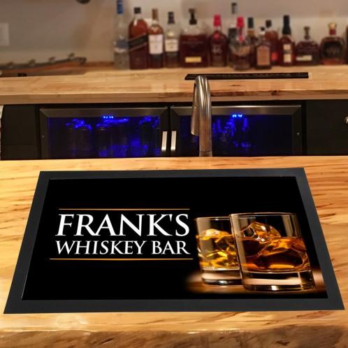 Personalised Whiskey bar runner mat