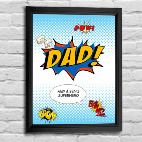 Fathers day Dad comic art print