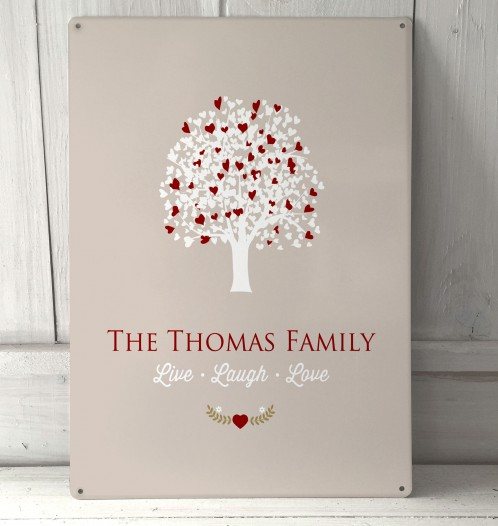 Personalised Family Tree Sign